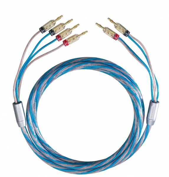 Oehlbach BI TECH 4 Bi-Wiring Kabel Set mit Kabelschuh - 2 x 4,0 m