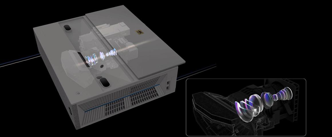 BenQ V7000i Laser TV Optik