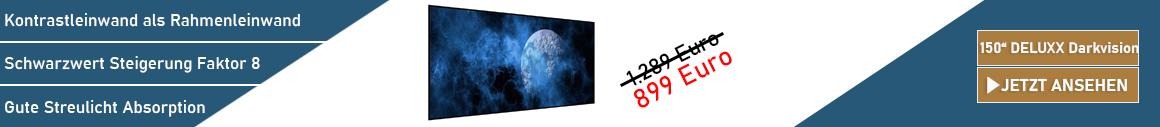 DELUXX Darkvision 150 Rahmenleinwand
