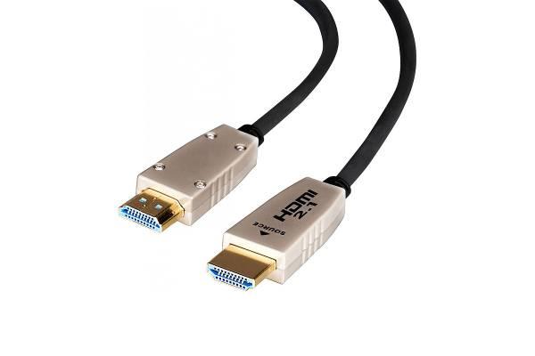 15m celexon Fibre HDMI 2.1 Kabel - 8K / 4K@120Hz / 48Gbps in Schwarz