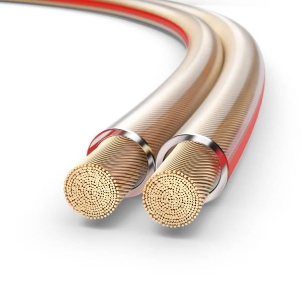 PureLink Lautsprecherkabel OFC 2x2,50mm², (0,20mm), 30,0m, transparent