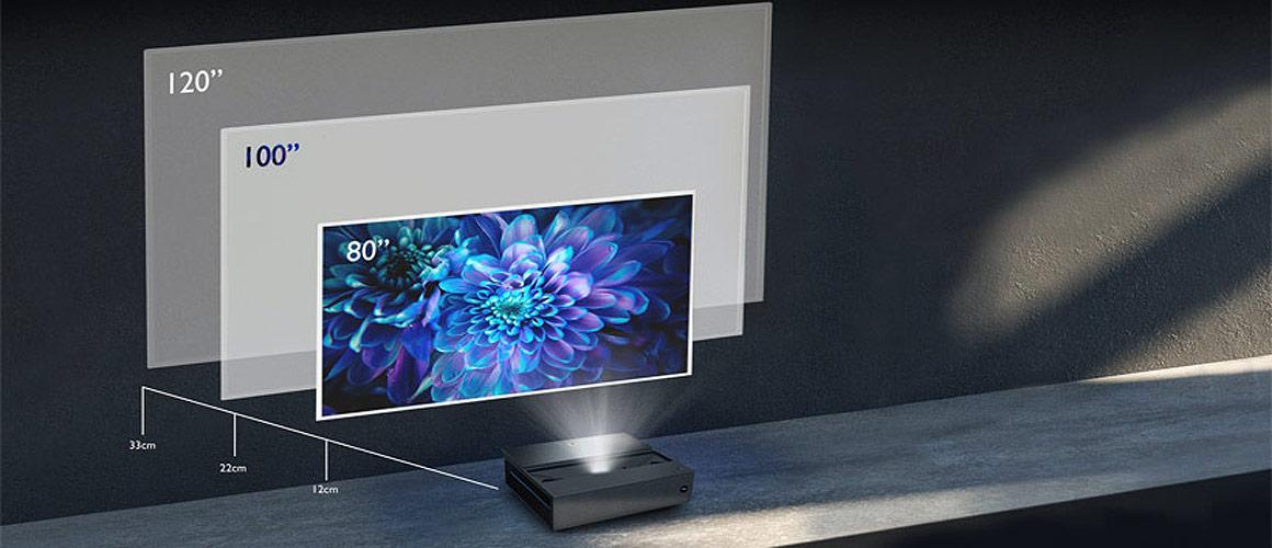 BenQ V6050 Laser TV Aufstellung