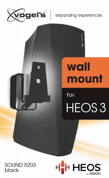 Vogels SOUND 5203 - Lautsprecher-Wandhalterung für Denon HEOS 3 (Schwarz)