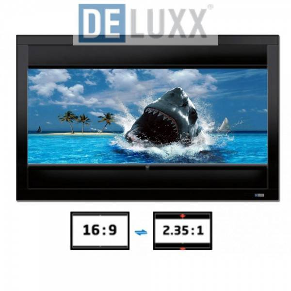 DELUXX Cinema Frame V-Adjustable 203 x 114 cm Contrast Grey