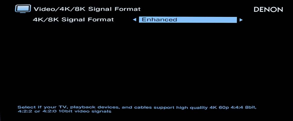 Enhanced 8K Signal Einstellung