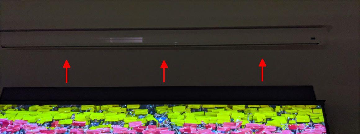 celexon CLR UST Kontrastleinwand ohne Lichtreflexionen