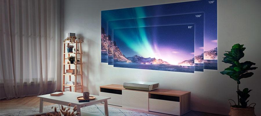 Laser TV Bilddiagonale im Wohnzimmer