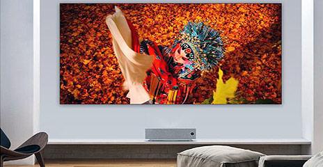 Laser TV Installation Wohnzimmer