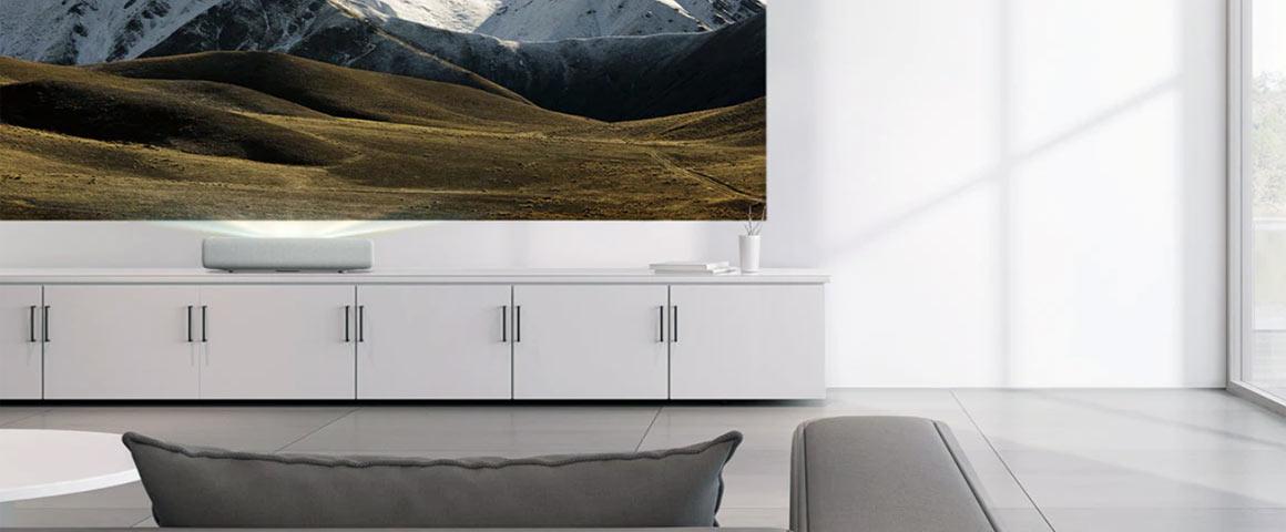 Samsung LSP7T Wohnzimmer Installation