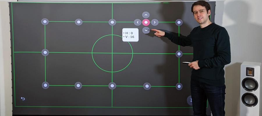 Laser TV Trapezkorrektur Einstellung