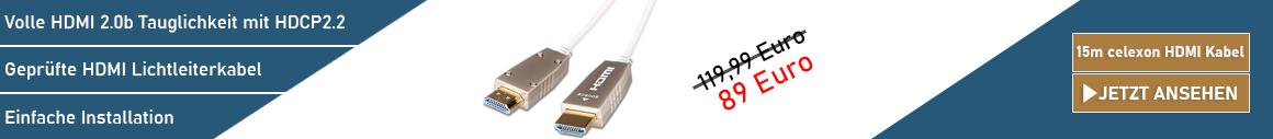 celexon UHD Fibre Lichtleiterkabel 15m