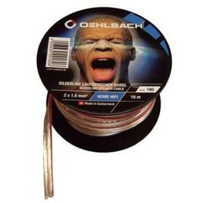 Oehlbach Silverline Lautsprecherkabel auf Mini-Spule 2 x 1,5 qmm - 10 m