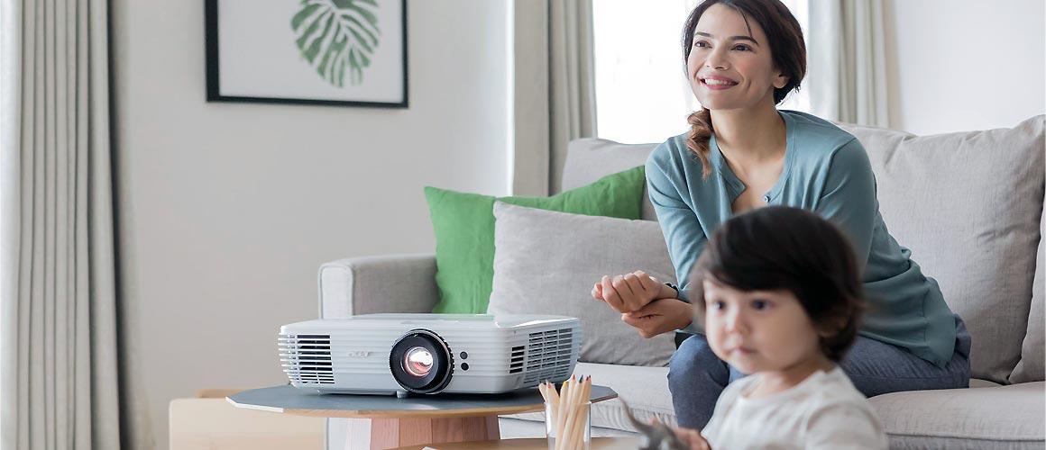 Acer M550BD Wohnzimmer Installation