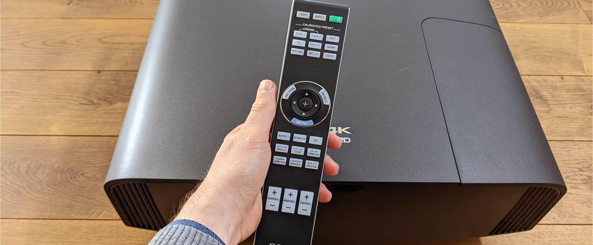 Sony VW590ES Fernbedienung Steuerung