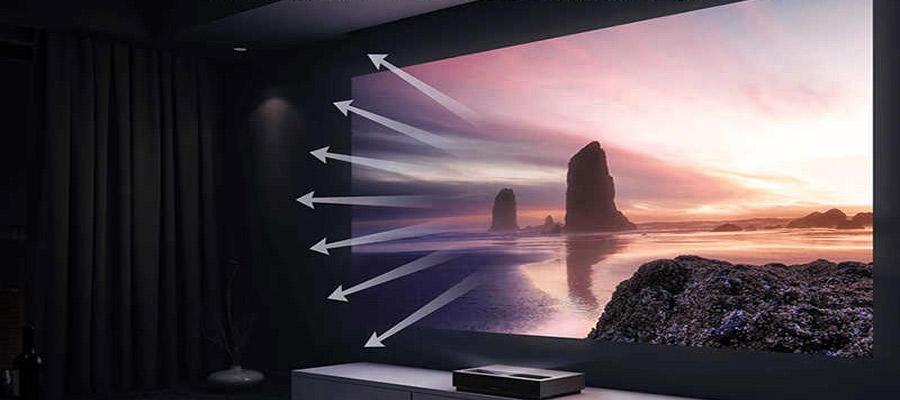 Laser TV Projektion Unterschied Fernseher