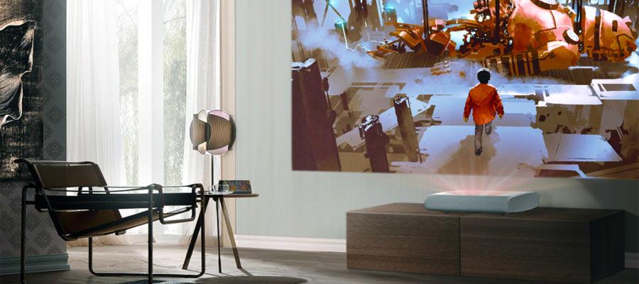 Laser TV Beamer Wohnzimmer