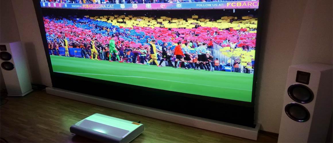 Samsung LSP7T Fernseher Fussball schauen