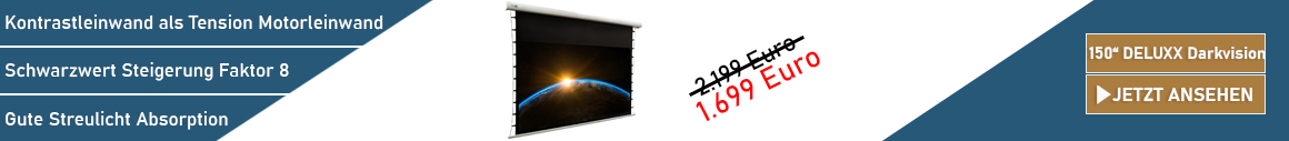 DELUXX Darkvision 150 Kontrastleinwand