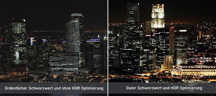 Laser TV Schwarzwert und HDR