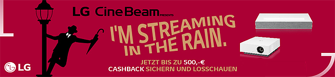 LG Streaming in the Rain Cashback Aktion