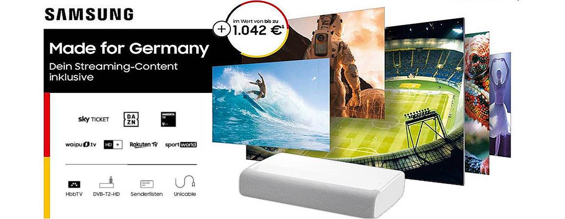 Samsung Laser TV Collection App Aktion