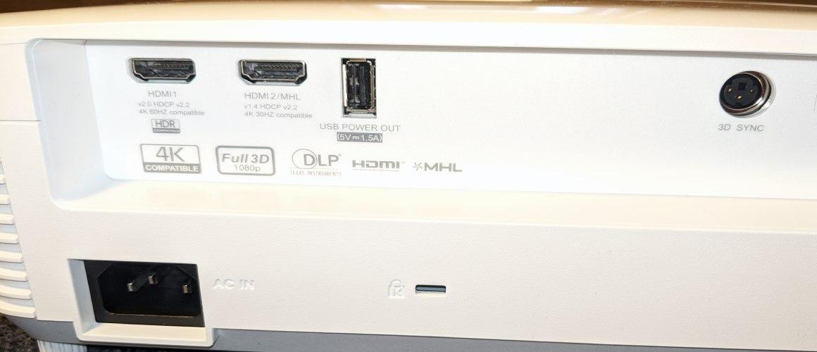 Optoma HD29H Rückseite