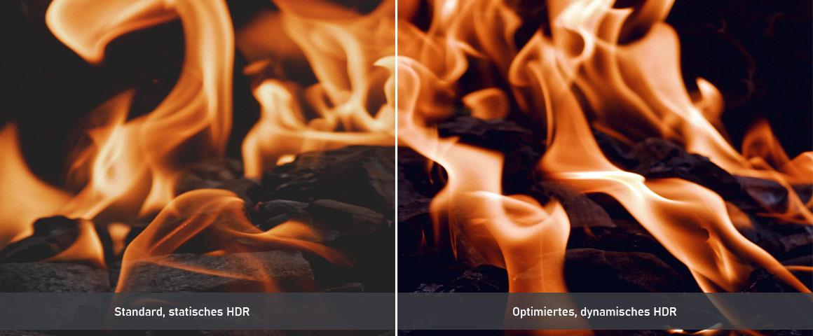BenQ V6000 Kontrast HDR Wiedergabe