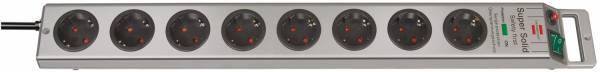 Brennenstuhl Super-Solid 4.500 A Überspannungsschutz-Steckdosenleiste 8-fach silber