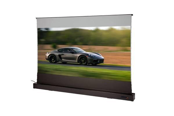 celexon CLR HomeCinema UST elektrische Boden-Leinwand 110, 243 x 137cm - schwarz