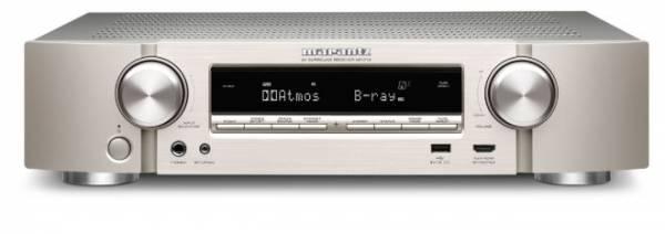 Marantz NR1710 Kompakter 7.2-Kanal-AV-Receiver mit 3D-Audio und Musikstreaming, silber-gold