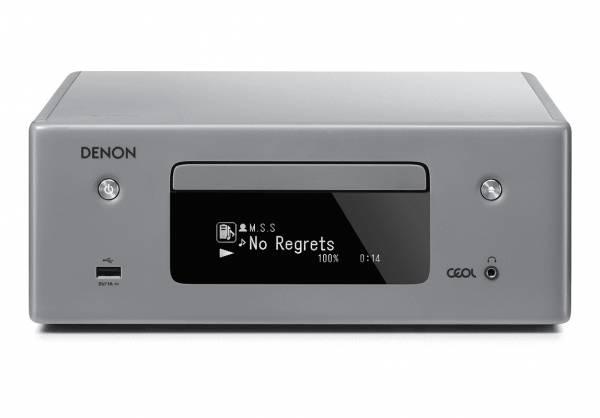 Denon CEOL RCD-N10 Netzwerk-CD-Receiver mit Wlan und Bluetooth, grau