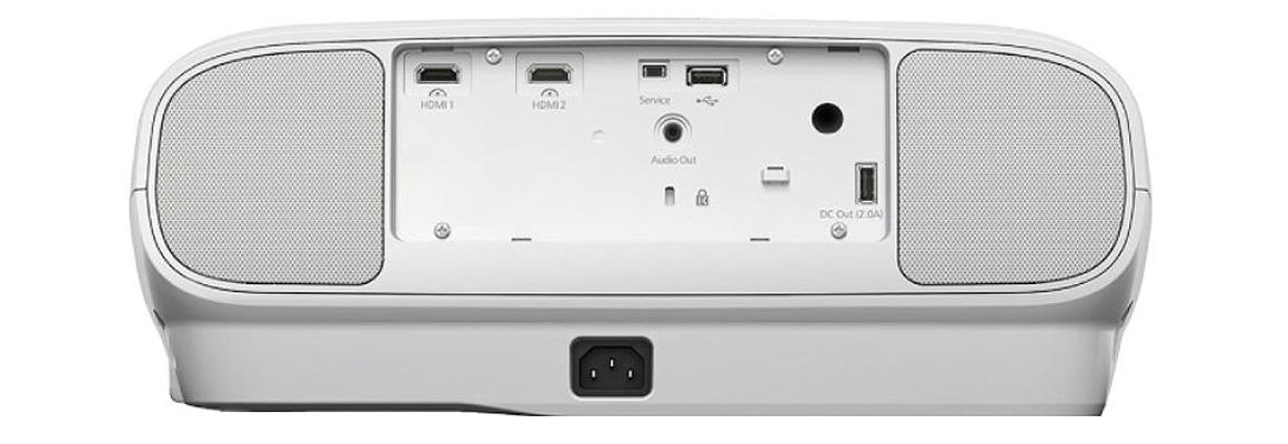 Rückseite Anschlüsse Epson TW7100