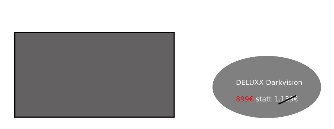 DELUXX Darkvision Rahmenleinwand