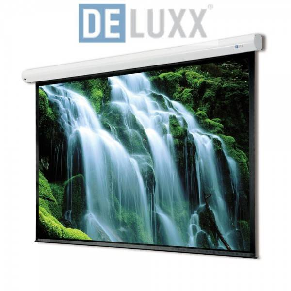 DELUXX Advanced Motorleinwand Cyber Polaro 221 x 125