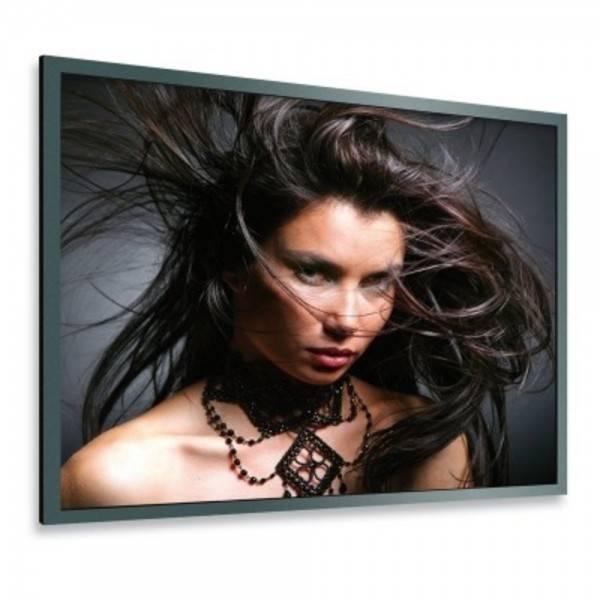 DELUXX Professional Rahmenleinwand Frame Pro 316 x 185 cm Mattweiss Vision