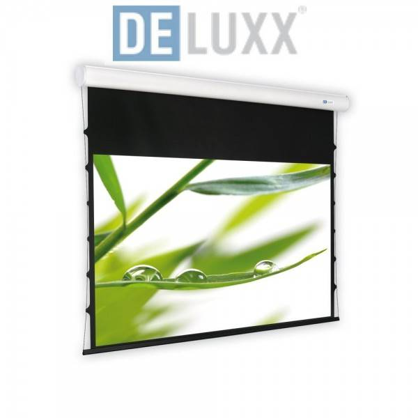 DELUXX Cinema Motorleinwand Elegance Tension 223 x 175 MW Varico Flat
