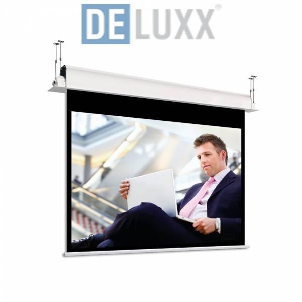DELUXX Professional Motorleinwand Inceel 16:9 Mattweiss Vision Pro 244 x 137 cm