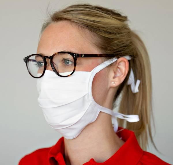 celexon Behelfs- Mund- und Nasenmaske Premium 100% Baumwolle mehrlagig ÖkoTex100, zum Binden - 100er Pack