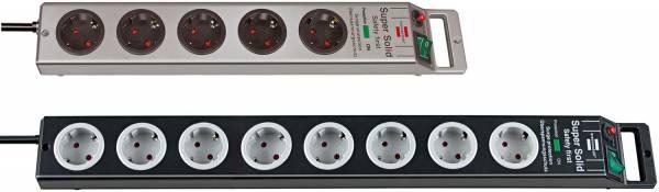 Brennenstuhl Super-Solid 4.500 A Überspannungsschutz-Steckdosenleiste 8-fach schwarz