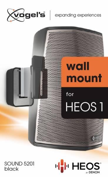 Vogels SOUND 5201 - Lautsprecher-Wandhalterung für Denon HEOS 1 (Schwarz)