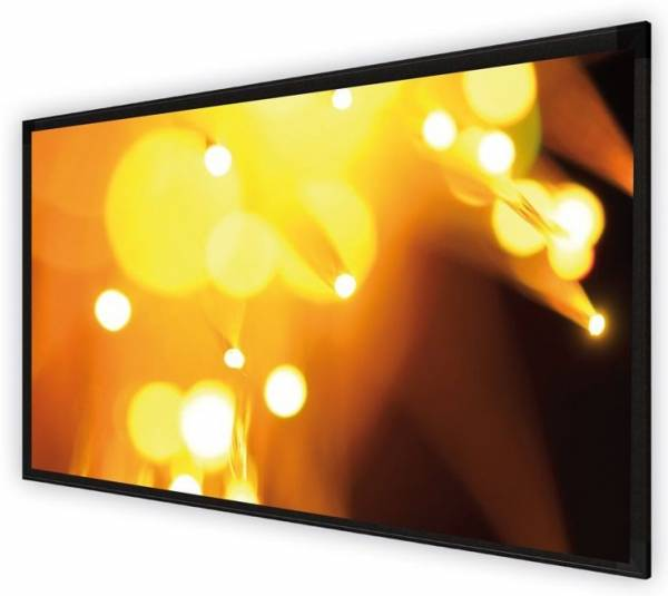 DELUXX Cinema Rahmenleinwand Frame Elegance 16:9 Mattweiss Varico Diamond 225 x 126 cm
