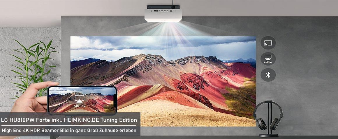 LG Forte Dual Laser Beamer Wohnzimmer