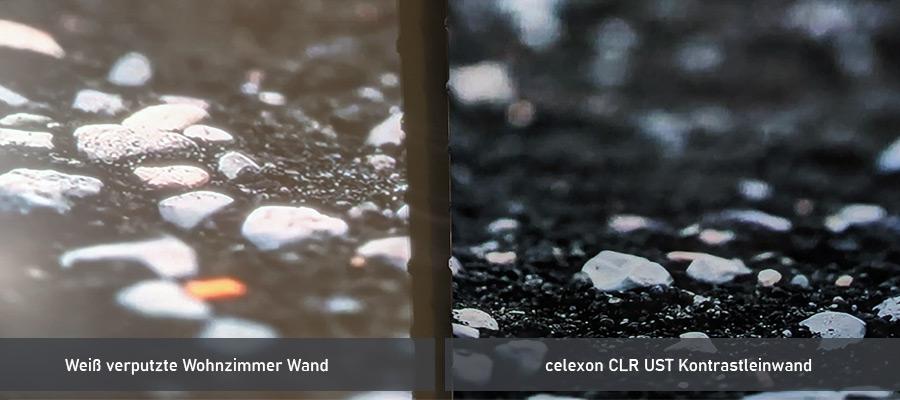 Wand gegen Leinwand Laser TV Vergleich