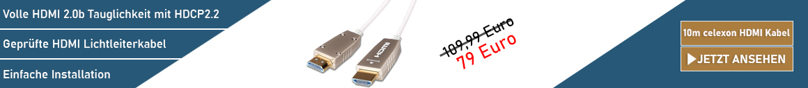 celexon Fibre UHD HDMI Kabel 10m
