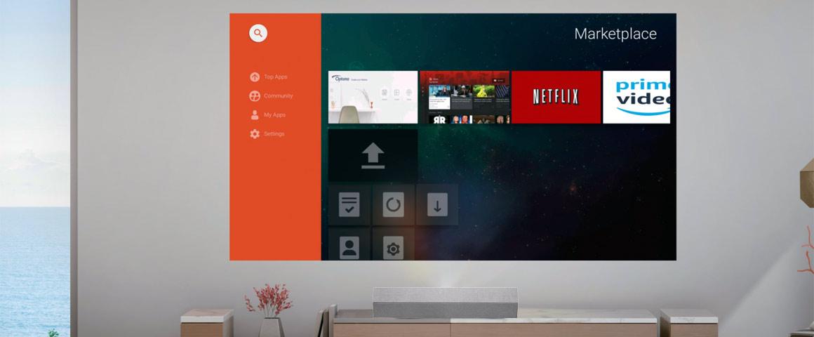 Optoma UHZ60UST Streaming Apps Aptoide