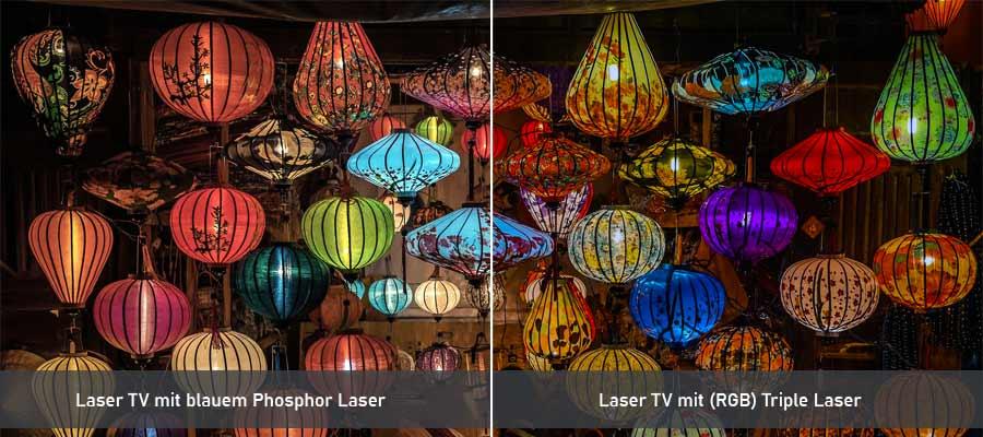 Vergleich Laser Phosphor Triple Laser