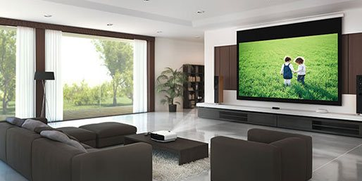 Home theater system in the living room