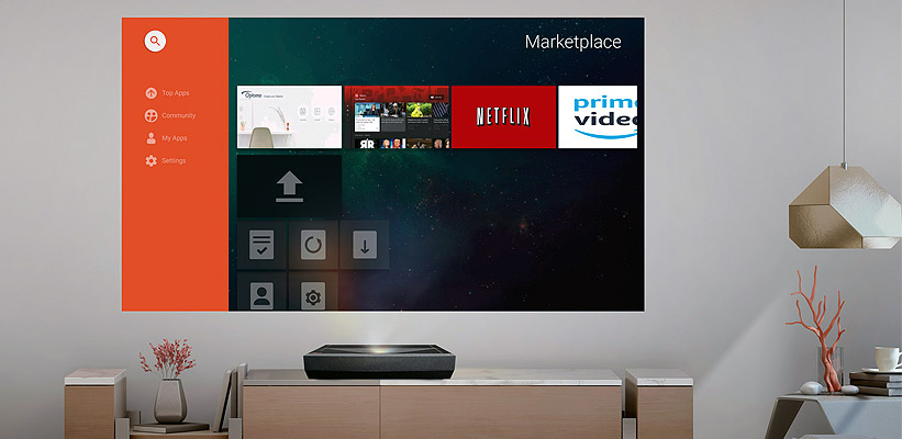 Optoma UHZ65UST Netflix Prime Streaming App