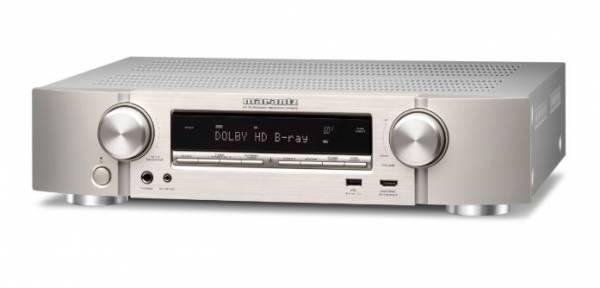 Marantz NR1510 kompakter 5.2-Kanal-AV-Receiver mit Musikstreaming, silber-gold